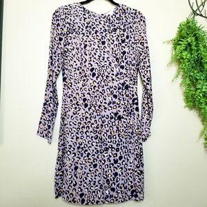 H&M | Purple Leopard Print Mini Sheath Dress
